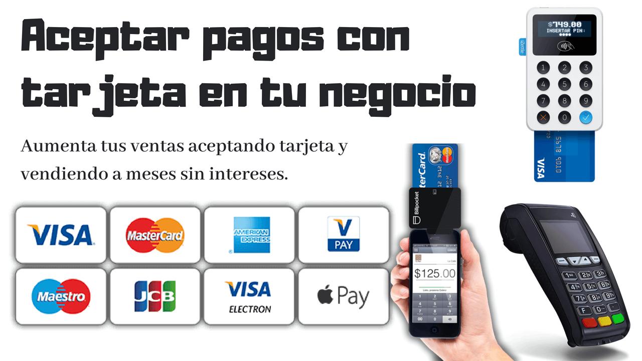 aceptar pagos tarjeta